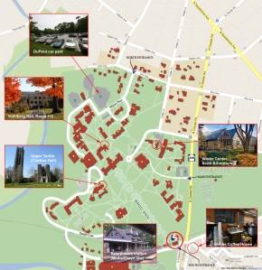 Swarthmore College map